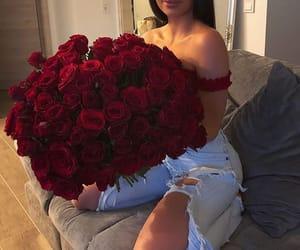 flowers, girl, and glamorous image
