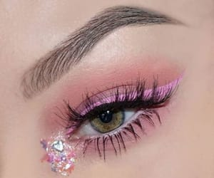 makeup, pink, and eye image