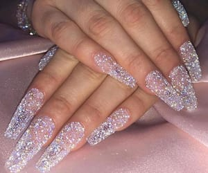 nails, glitter, and luxury image