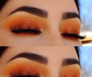 makeup, style, and orange image