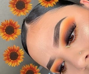 brown, eyeshadow, and makeup image