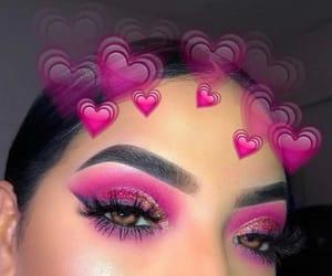 eyeshadow, pink, and beauty image