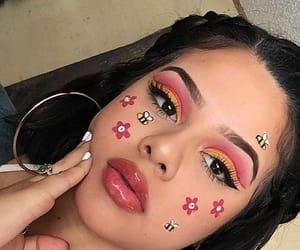 art, eyeshadow, and pink image
