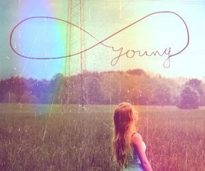 girl, summer, and young image