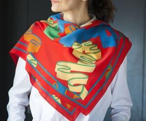 etsy, women's scarf, and retro fashion scarf image