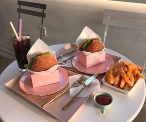food, yummy, and burgers image
