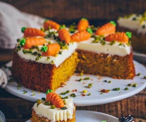 cake, dessert, and carrot image
