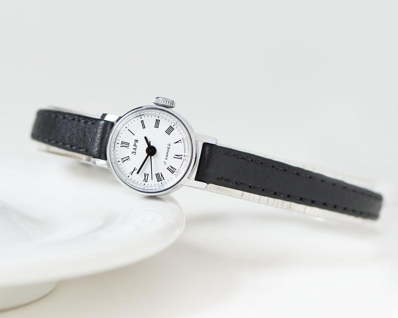 etsy, silver women watch, and girlfriend gift image