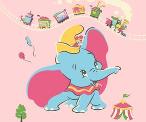 circus, disney, and dumbo image
