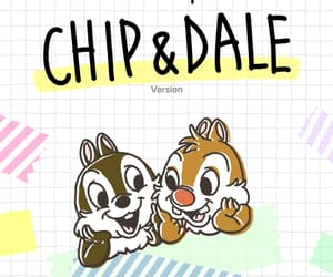 chip, dale, and disney image