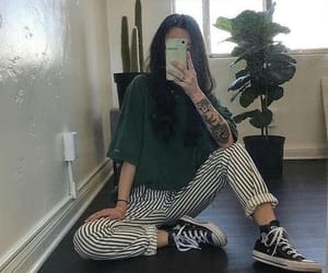 outfit, aesthetic, and green image