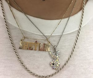 gold, necklace, and Playboy image
