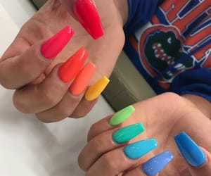 colorful, colorful nails, and nails image