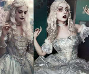 alice in wonderland, cosplay, and white queen image