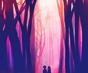 anime, forest, and cute image