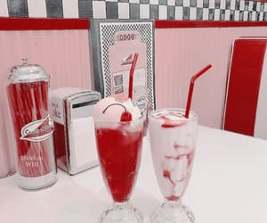 aesthetic, diner, and milkshake image