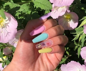 blue, nails, and easter image