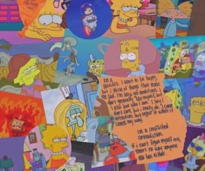 wallpaper, simpsons, and cartoon image