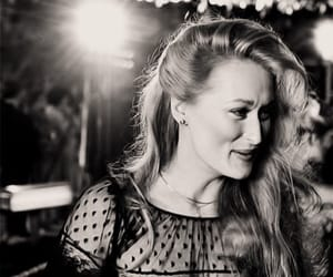 meryl streep, black and white, and actress image