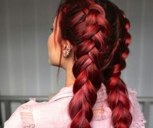 hair, red, and braids image