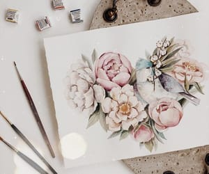 art, floral, and flower image