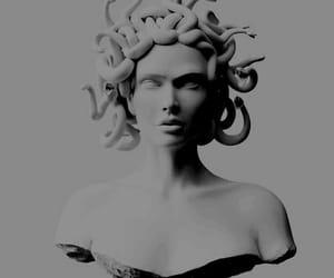 medusa, white, and art image