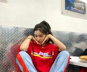 girl, ulzzang, and red image
