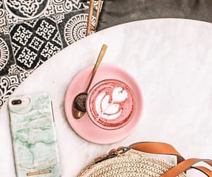 adventure, spring vibes, and pink latte image