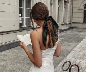 fashion, girl, and book image