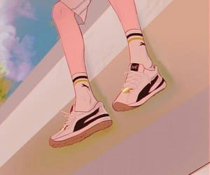 aesthetic, anime, and puma image