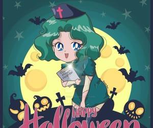 Halloween, moon, and neptune image