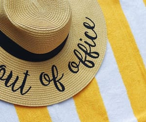 beach, stripes, and summer image