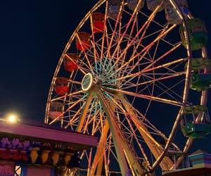 aesthetics, amusement park, and ferris wheel image