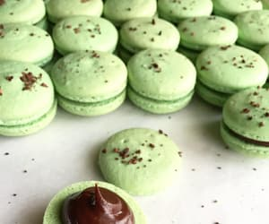 green, macaroons, and mint image