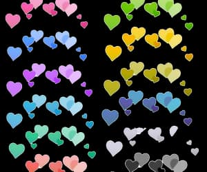 colours, hearts, and overlay image