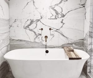 bathroom, marble, and interior image