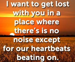 heartbeats, love quotes and sayings, and love quotes image