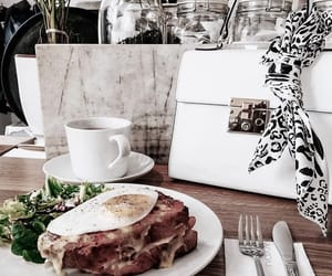 bag, breakfast, and drinks image