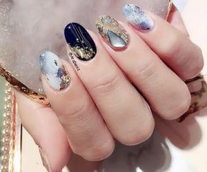 marble nail art image