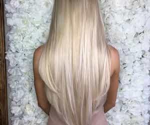 blonde, blonde hair, and straight hair image