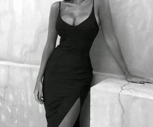 black and white and black dress image