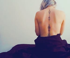 tattoo, tattooedgirl, and backtattoo image