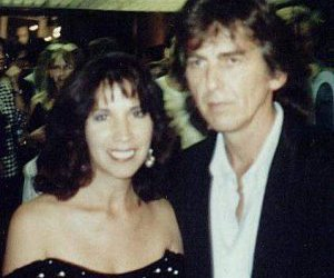 George Harrison The Beatles And Olivia Arias Image