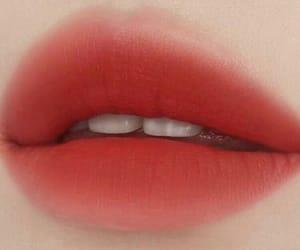 губы, оранжевый, and макияж image