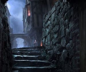 dark, sewer, and london image