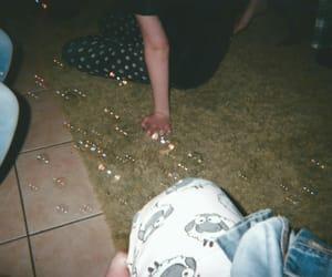 bubbles, night, and pyjamas image