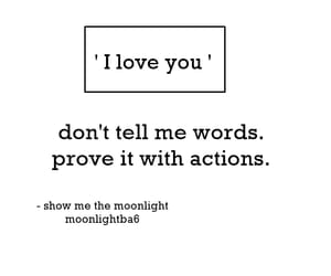 I Love You, words, and actions image