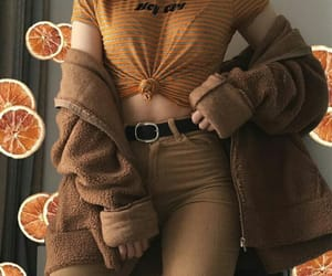 aesthetic, outfit, and orange image