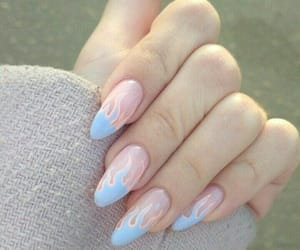 nails, blue, and girl image