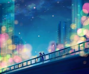 cityscape, my art, and sailor moon fanart image
